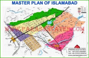 CDA Map of Islamabad. Paras Estates, Islamabad, Pakistan