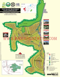 Sunflower Block, DHA Valley. Defence Housing Authority. Paras Estates, Islamabad, Pakistan