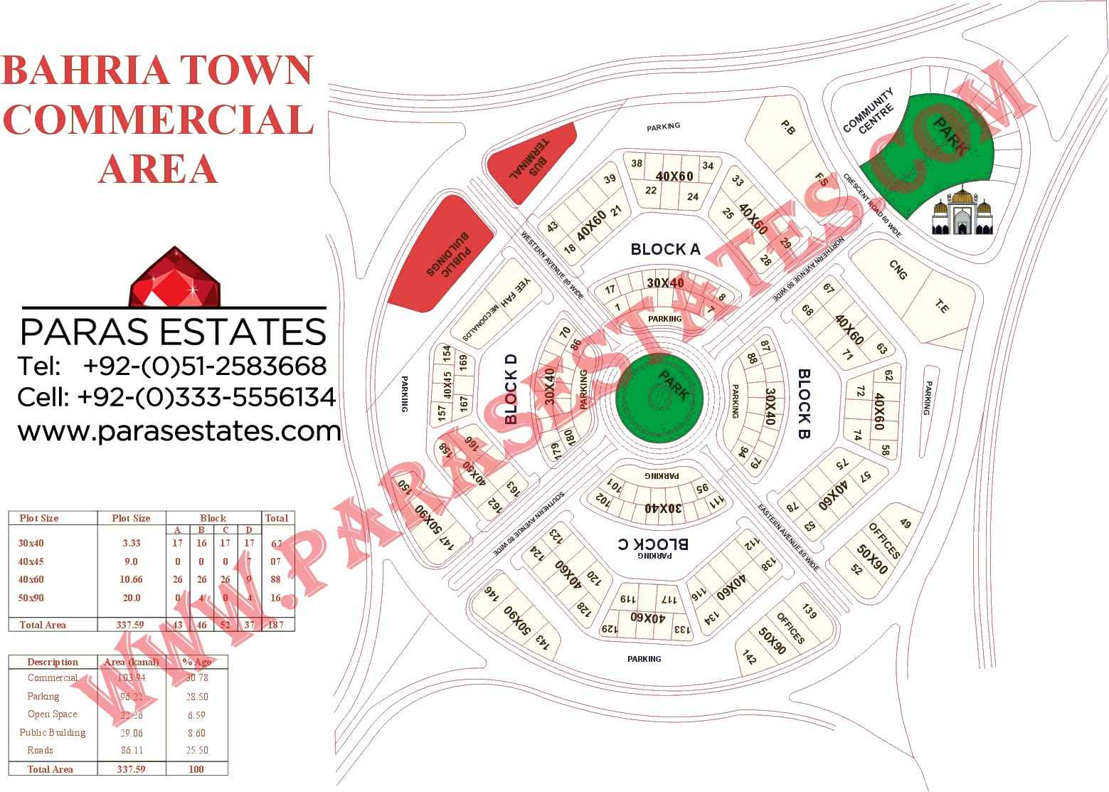 Plots, Bahria Civic Center, Plot No. 164 and 165, size 40×60 each, 5 ...