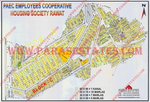Map PAEC Employees Cooperative Housing Society Raw at Islamabad