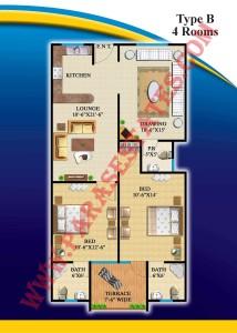 Defence Residency Type B Floor Plan