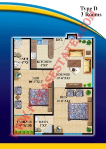 Defence Residency Type D Floor Plan