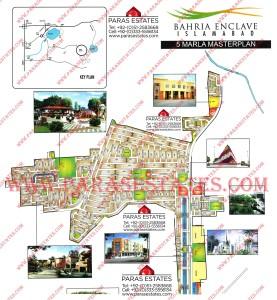 Map Bahria Eenclave 5 Marla