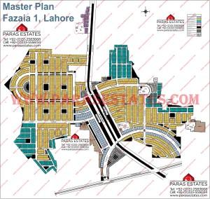 Map of Fazaia 1 Lahore