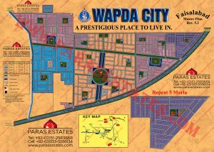 Map WAPDA City Faisalabad