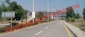 World Trade Center DHA 2 Islamabad (as viewed from Main Avenue of Zaraj Housing Scheme)