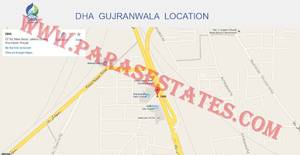 Defence Housing Authority (DHA) Gujranwala Location Map