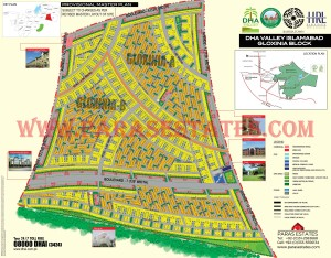 Gloxinia Block, DHA Valley. Defence Housing Authority. Paras Estates, Islamabad, Pakistan