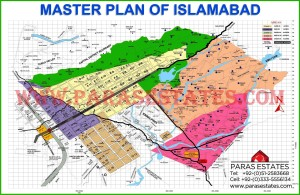 CDA Map of Islamabad. Paras Estates, Islamabad, Pakistan