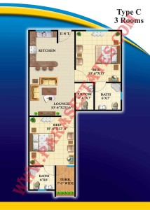 Defence Residency Type C Floor Plan