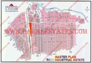 Map RCCI Industrial Estate Rawat Islamabad