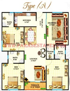 Defence Heights Type A Floor Plan