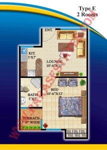 Defence Residency Type E Floor Plan