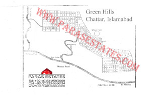 Map Green Hills Chattar, Islamabad, Map Al-Sadiq LakeView Gardens, Islamabad