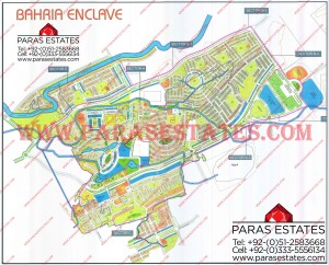 Map of Bahria Enclave 2012, Islamabad