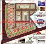 Defence Residency Shops - Upper Ground and Lower Ground Floor Plans