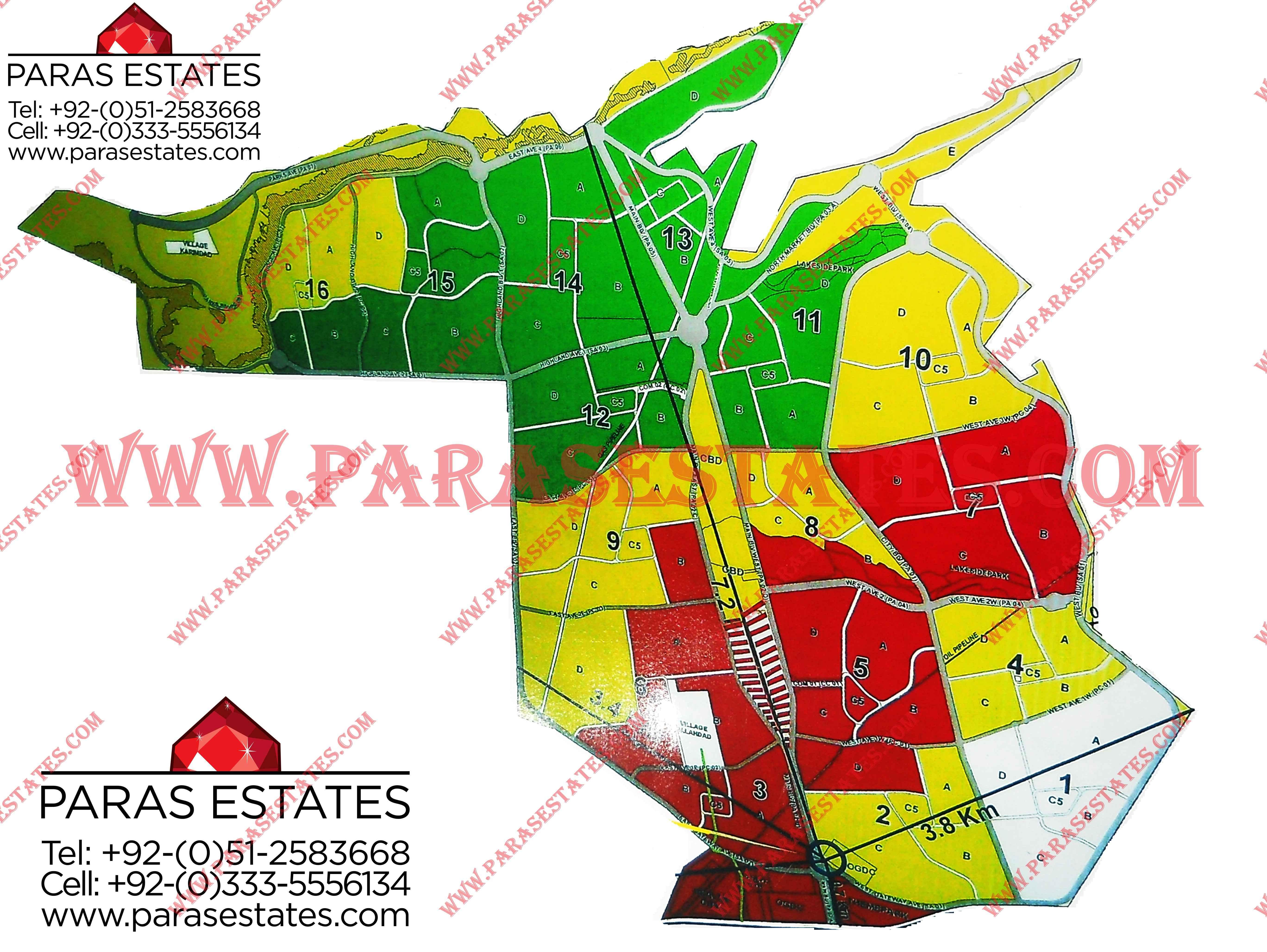 Karachi Maps » Paras Estates