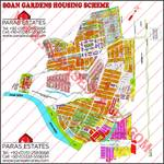 Soan Gardens and AGHOSH-1 Map